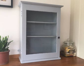 Lovely old cabinet painted grey