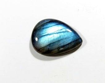27Cts 28X21X6mm Natural Labradorite Cabochon Loose Gemstones Pear Top AAA Blue Fire Labradorite Gemstones Labradorite Jewelry Making