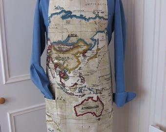 Gents apron/large apron/atlas fabric