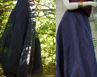 Vintage boho hippie Boho chic skirt/long//skirt/purple skirt 90s maxi skirt/size S, M, L/Made in Italy