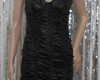 Classic Black 90's Style Spaghetti Strap Dress (S)