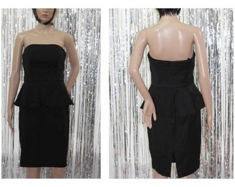 Black White Market90's Black Strapless Dress  (4)