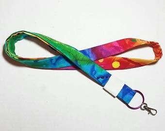 Tie Dye Lanyard Tie Dye Keychain Watercolor Lanyard Boho Lanyard Boho Keychain Hippie Lanyard Hippie Keychain Teacher Lanyard Tie Dye