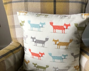 Fox Design Cushion Covers with a plain envelope back