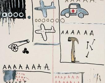 Jean-Michel Basquiat Untitled (Vehicles) 1981