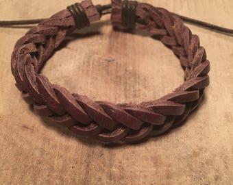 Beautiful braided leather bracelet