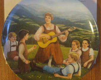 Vintage Collector Plate, Do-Re-Mi | The Sound of Music, by T. Crnkovich, Knowles China, 1986, commemorative, Julie Andrews, musical, plate
