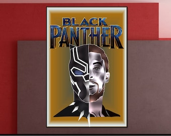 Black Panther|Heroes Poster|Printable|Marvel Superhero Comic | Digital