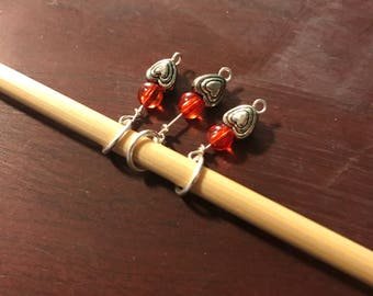 Valentine's Knitting Stitch Marker (US size 8 needles or smaller)