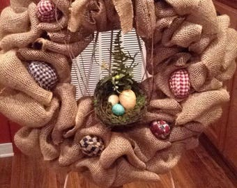 Primitive Easter Wreath