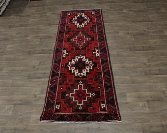 4X10 Stunning Runner Balouch Turkoman Persian Rug Oriental Area Carpet 3ʹ6X10ʹ3