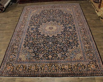 Excellent Hand Knotted Plush Kashmar Persian Wool Rug Oriental Area Carpet 10X13