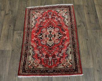 Small Entrance Handmade Tribal Hamedan Persian Rug Oriental Area Carpet 2'3X3'6