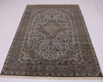 Amazing Semi Antique Signed Sage Kashan Persian Rug Oriental Area Carpet 9X13