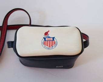 "Kodak 1972 Olympic Camera Shoulder Bag 5 x 8 x 3.75"" Highly Collectible Retro"