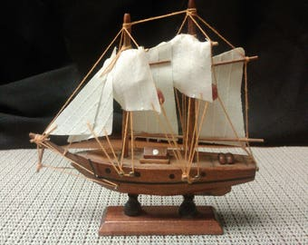 Sailing ship handmade (wood) in mid-1900s