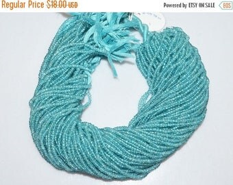 50% OFF 1 Strand Apatite Faceted Rondelle Beads 13 Inch Strand , Apatite Micro Faceted Rondelle , 3 mm - MC895