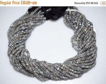 50% OFF Good Quality Labradorite AB  Silver Coated Rondelle Beads - Labradorite Coated Faceted Rondelle Beads , 4 mm - MC178