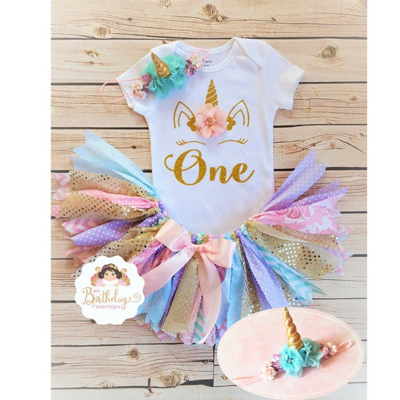Unicorn First Birthday Tutu OutfitFirst Birthday Outfit