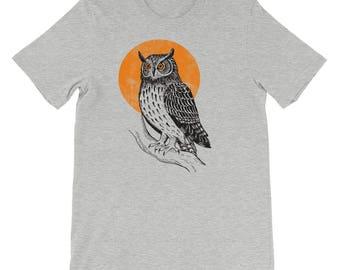 Owl, Owl Shirt, Owl Tshirt, Owl Shirt For Men, Owl Tshirt For Men, Owl Tee, Owl Clothing, Owl Clothing For Men, Night Owl TShirt