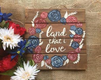 Americana Decor, Americana Sign, Fourth of July Sign, Fourth of July Decor, Red White and Blue Decor, Rustic Home Decor, Patriotic Decor
