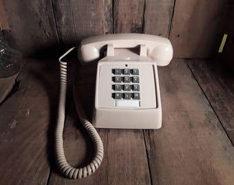 CORTELCO Beige Touch Tone Desktop Telephone