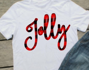 Jolly svg, plaid svg, Christmas svg, Winter svg, SVG, buffalo plaid svg, merry svg, Fall SVG, Digital Download, iron on printable, dxf, eps