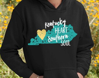 Kentucky Heart Southern Soul SVG, Kentucky SVG, distressed svg, Southern svg, Grunge svg, svgs, dxf, Digital Download, eps, shortsandlemons