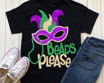 Mardi gras svg, Mardi Gras dxf, Beads Please svg, SVG, DXF, EPS, Fat Tuesday svg, Mardi Gras shirt, shorts and lemons, beads svg, transfer
