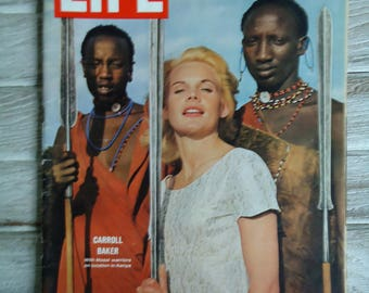 Carroll Baker Vintage life magazine - 1964 Life Magazine - Retro decor - Vintage advertising - Carroll Baker - old Magazine ads, Vintage ads
