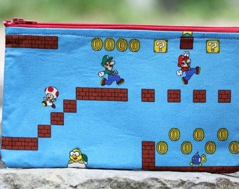 Mario Brothers Flat Pouch
