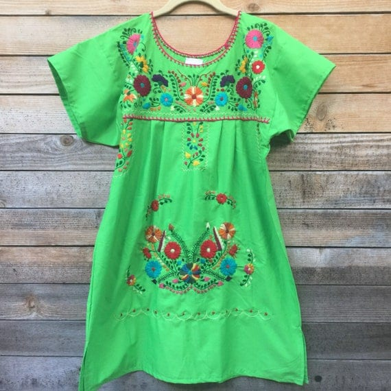 short women's mexican dress