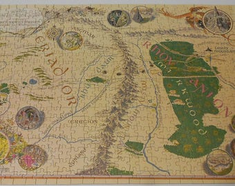 The hobbit two-sided jigsaw puzzle VINTAGE 1966