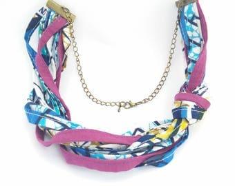 "wax ""Gambia"" multi strand necklace"