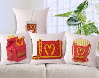 Moschino inspired pillowcases