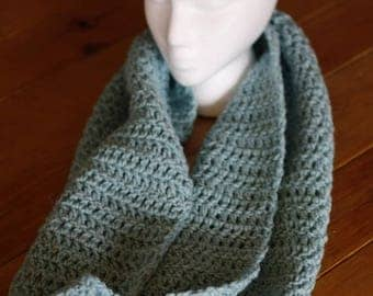 Large Blue Infinity Scarf