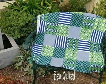 Geometric Prints Cot Quilt Quilt