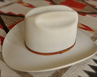 Vintage Stetson Cowboy Hat Men's 10X Beaver size 7 1/8