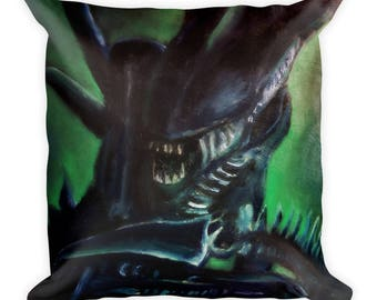 Alien Xenomorph Square Pillow