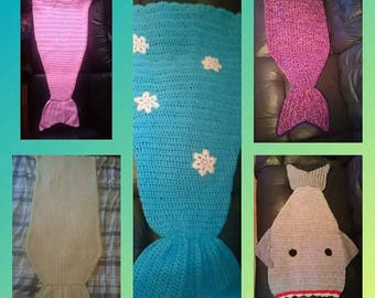 Crochet mermaids/sharks tails