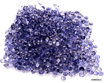 25 pcs 3mm Iolite Faceted Round Loose Gemstone Nice AAA Quality 100% Natural Faceted Iolite Round Gemstone Loose Iolite Gems Wholesale Lots