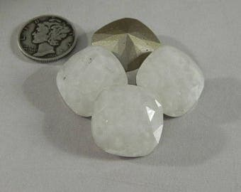 Swarovski 4470 Mosaic White Opal F 18MM Cushion Cut Stone (1 piece)