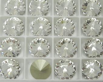 Swarovski 1122 Clear Crystal F 12mm Rivoli Stones