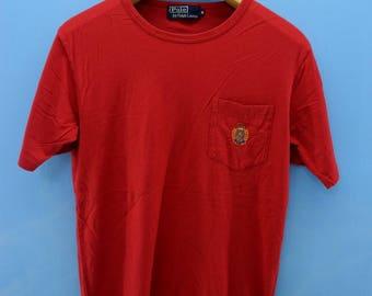Vintage Polo Sport By Ralph Lauren T Shirt Designer Urban Fashion Size S