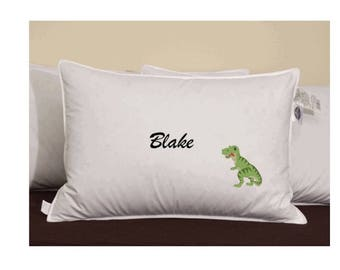 Green Dinosaur Customized Pillowcase