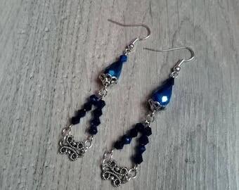 """Earrings dangling """"Mila"""", Swarovski Crystal, retro, oriental"""