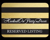 RESERVED LISTING FOR Jennifer Graduation Party