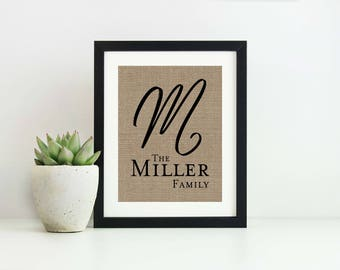 Family Name Sign- Personalized Last Name Wall Decor- Christmas Gifts for Wife- Wedding Gift- Housewarming Gifts- Last Name Sign- Family Sign