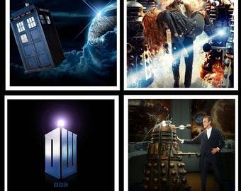 Doctor Who Inspired Coaster Set