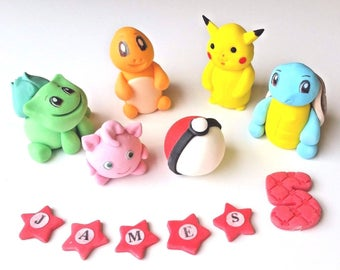 POKEMON  full set cake toppers edible decoration